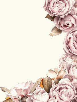 Mooie sepia-roze lijst van Uta Naumann