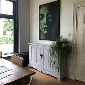 Klantfoto: AngelBuddha van Lucienne van Leijen, op canvas