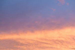 Zonsondergang, wolkenlucht van