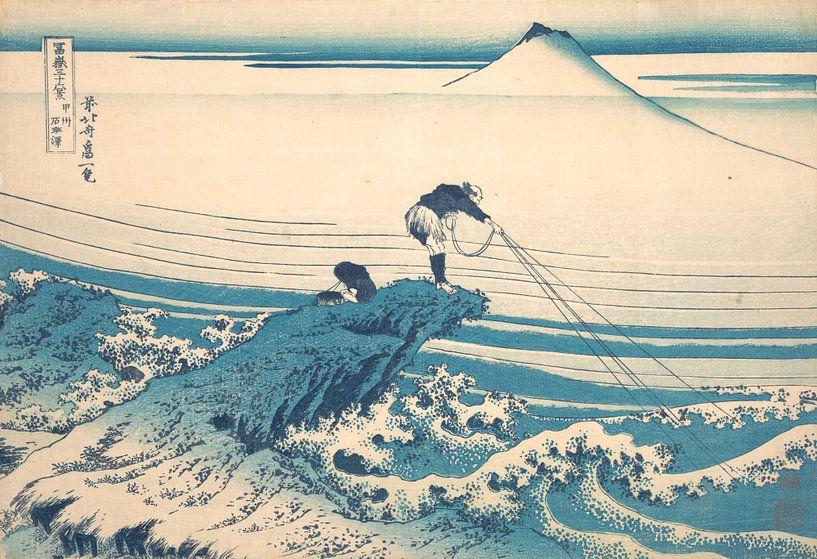 Kajikazawa in der Provinz Kai, Katsushika Hokusai von Meesterlijcke Meesters