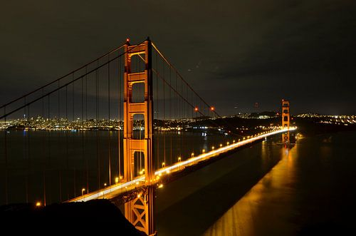 San Francisco - Golden Gate Bridge, Nachtporträt - USA von Maurits Simons Fotografie