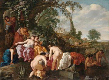 Die Tochter des Pharaos findet Moses im Binsenkorb, Moyses van Wtenbrouck