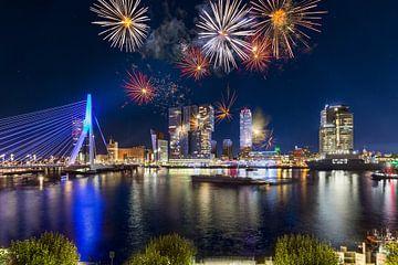 Vuurwerk in Rotterdam 3 van Prachtig Rotterdam