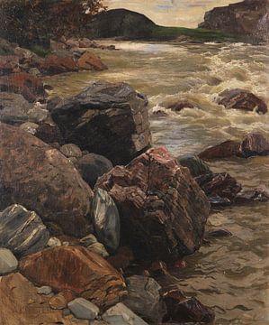 Am Eisack in Südtirol, ALEXANDER KOESTER, Ca. 1890 von Atelier Liesjes
