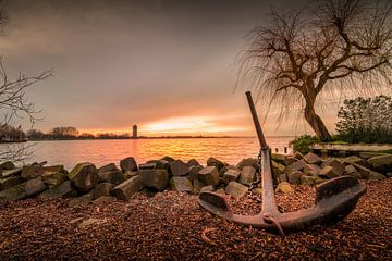 Sonnenuntergang am See von Johan Honders