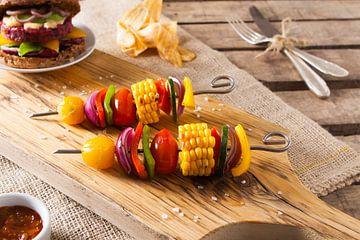 Sfeervolle foto vegetarisch gerecht van