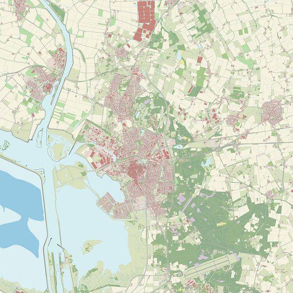 Kaart vanBergen op Zoom van Rebel Ontwerp