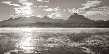 Sonnenaufgang am Hopfensee von Walter G. Allgöwer
