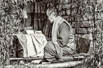 Boeddhistische monnik in Bhutan