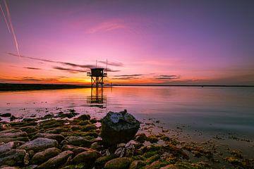 Nederlandse zonsondergang in zeeland van Björn van den Berg