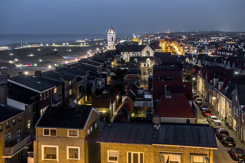 Katwijk bij nacht van Dirk van Egmond