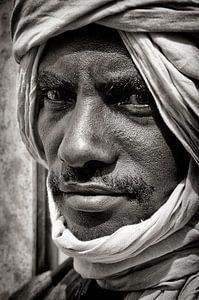 Touareg uit Timboektoe, Mali. van