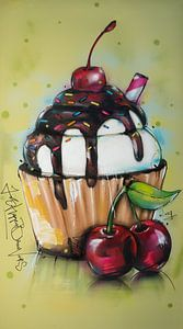 Cupcake painting van