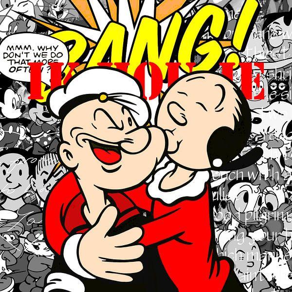 Berühmte Liebespaare - 'Zeichentrickfiguren' von Jole Art (Annejole Jacobs - de Jongh)