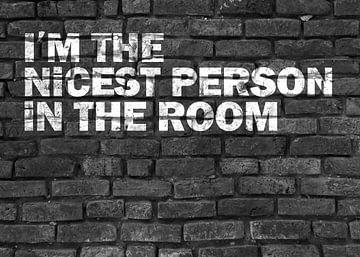 Lustiger Spruch für selbstbewusste Menschen Graffiti von KalliDesignShop