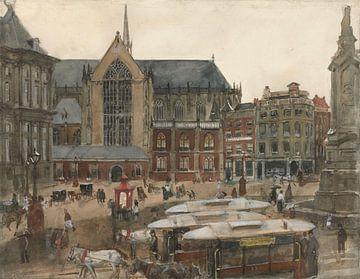 Dam Square in Amsterdam, George Hendrik Breitner