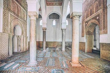 De Ben Youssef Madrasa koranschool in Marrakech, Marokko. Een prachtig voorbeeld van islamitische ar van Bas Meelker
