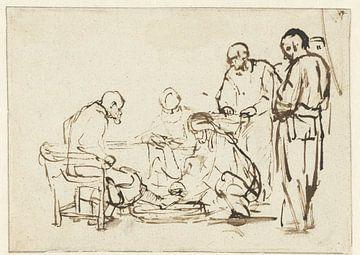 Lavement des pieds, Rembrandt van Rijn