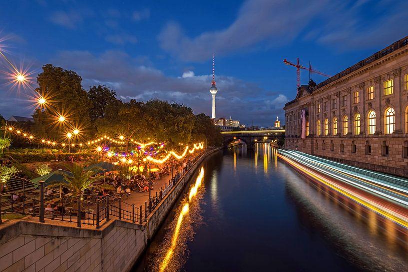Berlin à l'horizon sur la Spree sur Frank Herrmann