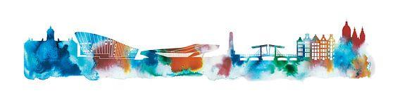 Amsterdam in watercolors