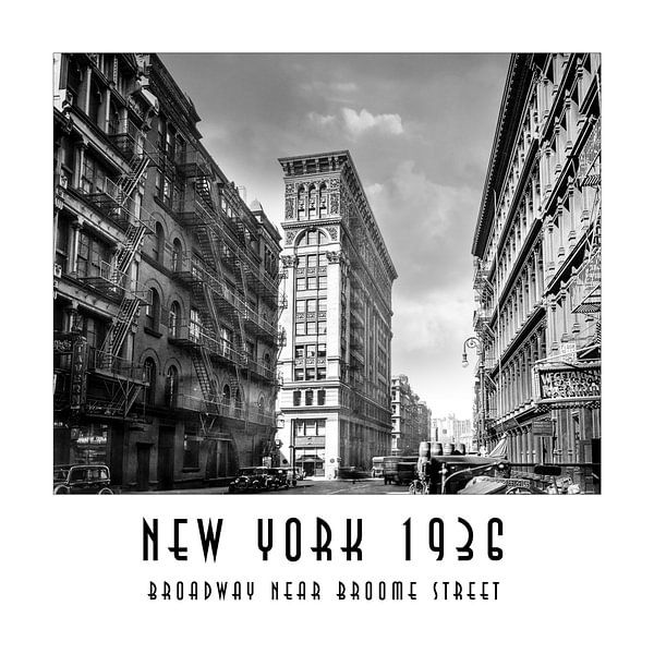 New York 1936: Broadway near Broome Street von Christian Müringer