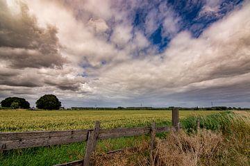 Landschaft mit feuchtem Himmel von Dirk Keij-Bron