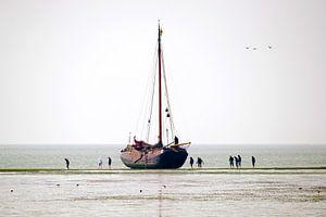 Segelboot auf das Wat