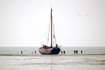 Segelboot auf das Wat von Roel Ovinge