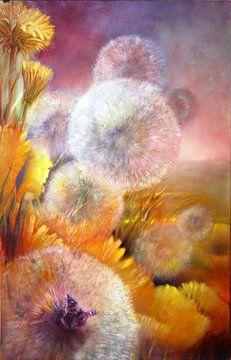 Paardebloem en vlinder van Annette Schmucker