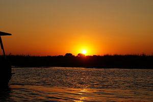 zonsondergang in Chobe