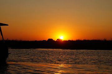 zonsondergang in Chobe van Erna Haarsma-Hoogterp