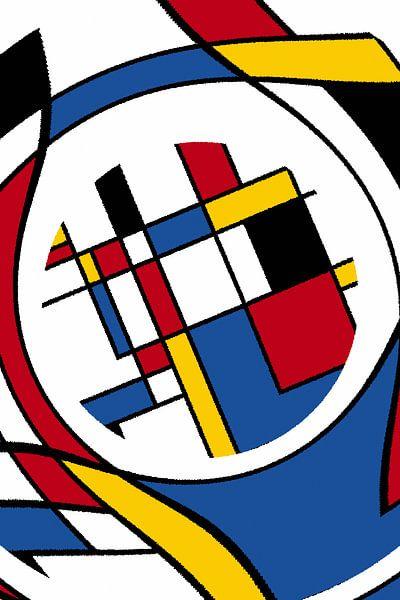 Piet Mondriaan Art II abstract van Marion Tenbergen