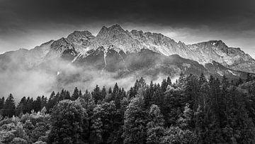 Beierse Alpen in Zwart-Wit