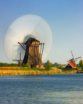 Molens bij de Kinderdijk van Henk Meijer Photography