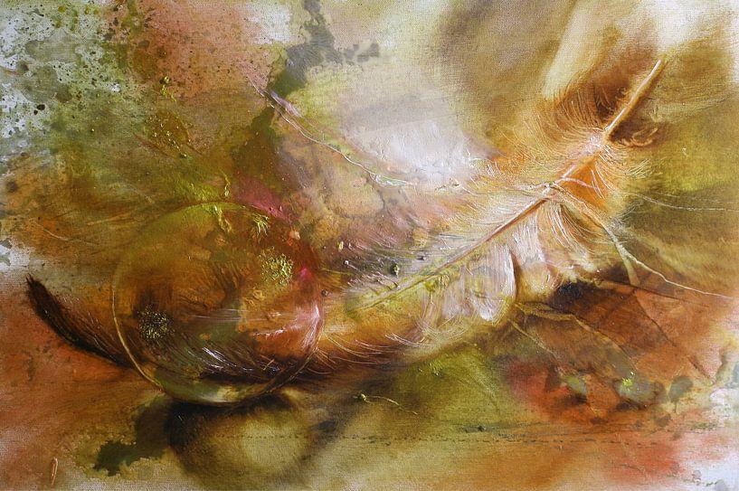 Feder und Glaskugel von Annette Schmucker