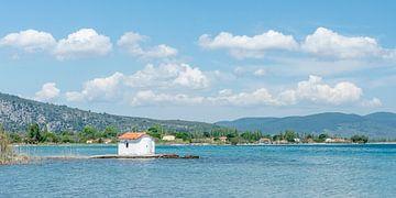 Kustlandschap op Lesbos, Griekenland van
