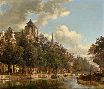 Vue le long d'un canal néerlandais, Jan van der Heyden sur