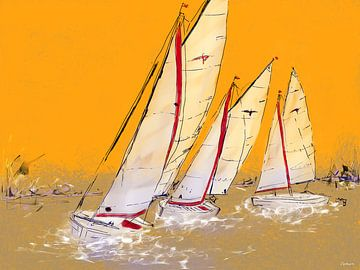 Zeilboot Valk. van SydWyn Art