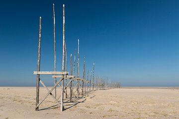 Aanlegsteiger op de zandplaat de Vliehors op het eiland Vlieland von Tonko Oosterink