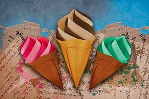 Origami trifft Küche - Eiscreme