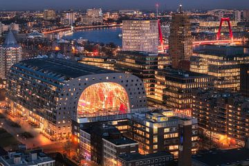 Vivid Rotterdam City von Vincent Fennis