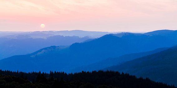 Uitzicht vanaf Schauinsland in het Zwarte Woud