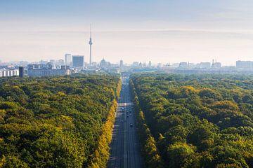 Le ciel de Berlin avec le Tiergarten et la tour de télévision