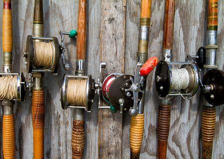 Old Deep Sea Fishing Rods van Renald Bourque