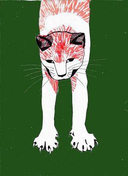Streunende Katze von Lucienne van Leijen
