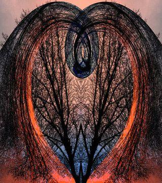 Hart met bomen van CreaBrig Fotografie