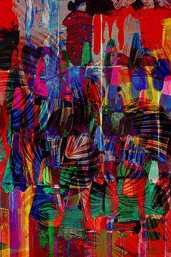Malschichten mit Calathea-Blättern im Collage-Stil von The Art Kroep