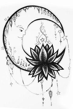 Tekening Maan van Cynthia Jansen