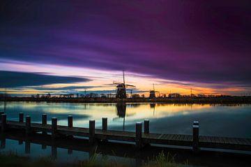 Mühlen Sonnenaufgang von Ricardo Bouman