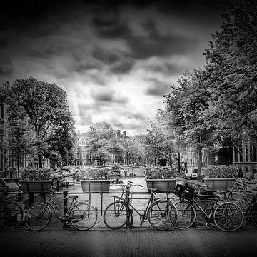 AMSTERDAM Herengracht | monochroom van